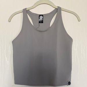 GTS Clothing GREY Infinity Crop Top